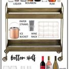 Great Bar Cart Ideas to Use When Entertaining