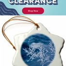 The Holiday Aisle® Winter on Ashuelot River, Winchester Snowflake Holiday Shaped Ornament, Ceramic/Porcelain in Blue/White, Size 3
