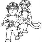 Feuerwehrmann Sam Ausmalbild | Sam und Penny lîschen