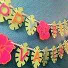 Luau Birthday Banners