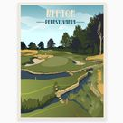 Merion Golf Club, Golf Gifts, Golf Gifts for Women, Golf Gifts For Men, Golf gift for Boyfriend, Golf Art, Retro Golf Masters Golf