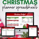 CHRISTMAS HOLIDAY PLANNER Google Sheets   Christmas Budget Spreadsheets    Christmas Savings Track