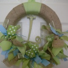 Burlap Ribbon Wreaths