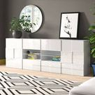 Bailee 2 Door 4 Drawer Sideboard Zipcode Design Finish: Gloss White 28cm H X 20cm W X 20cm D