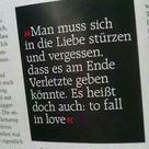 Man muss sich in die Liebe stürzen und vergessen, dass es am Ende Verletzte geben könnte. Es heißt doch auch: to fall in love.