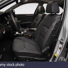2008 BMW 5 Series 535i in Silver   Front seats Stock Photo   Alamy