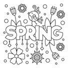 Spring Coloring Page • FREE Printable eBook