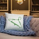 NO WIRE HANGERS Pillow - Red
