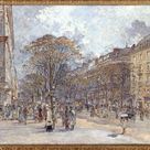 Frédéric Houbron, 1902 - The boulevard of the Italians, look in the morning - fine art print - Acrylic glass print (with real glass coating) / 80x60cm - 31x24\