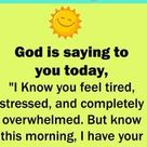 What God Is Sayings To You Today