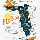 Florida Map by Rifle Paper Co.