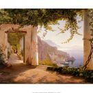 Art Print: Aagaard's Amalfi Dia Cappuccini, 24x32in.