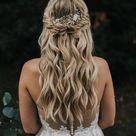 wedding hair down with curls