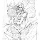 Free Fairy & Mermaid Coloring Pages by Jody Bergsma