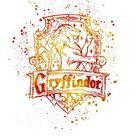 Harry Potter Gryffindor 02 House silhouette poster watercolor wall art splatter sport illustration print Glicée artistic - SKU 2758