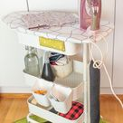 Ironing board on wheels Your sewing room needs this   IKEA Hackers