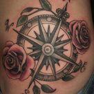 Compass Tattoo Design