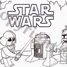 Star Wars instant download Colouring Darth Vada Foldable | Etsy