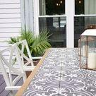 DIY Tile Tabletop - Seeking Lavender Lane