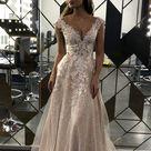 Enn by Olivia Bottega Lace Bodice A-line Wedding Dress    Etsy