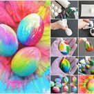 Image via: one little project To make these cheerful tie dye Easter eggs first y… - Paper Diy