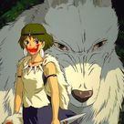 Princess Mononoke Blood Wolf Anime Poster