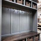THE DUBLIN GRAY Mudroom Lockers Bench Storage Furniture Cubbies Coat Rack Hall Tree