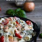 Spinat-Lachs-Pasta in cremiger Frischkäse-Sahne-Soße - MeineStube