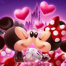 Cartoon 5D DIY Diamond Painting Mickey and Minnie LOVE Disney Full Square/Round Drill Mosaic Diamond Embroidery Cross Stitch Kits Home Decor