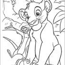 Timon singing to simba coloring pages - Hellokids.com