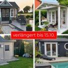 Gartenhaus grau-weiß: moderner Gartentrend mit Stil