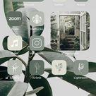 iOS 14 App Icons Organic | Green boho, nature, neutral tones, plants, botanical, mint | Aesthetic Home Screen iPhone | Hand drawn widgets