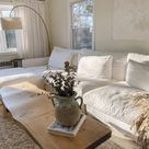 The perfect white cloud couch and neutral living room
