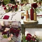 20 Burgundy Wedding Centerpieces | Roses & Rings- Part 2