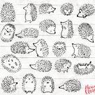 Hedgehog Clipart   22 Hedgehog Doodle Clip art   Hedgehog card   Woodland Clip art   Woodland Invitation   Hedgehog PNG   91