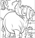 Hathi Is Playing In The River coloring page | Free Printable Coloring Pages