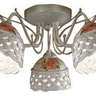 Ferroluce Verona Deckenleuchte weiß, Handgefertigt in Italien, Wohnzimmer, Keramik Deckenlampe E14