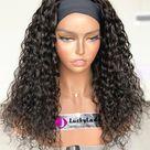 easy wear popular head band wig Human Hair wigs cheap headband wigs  deep curly style women wigs for women band wigs