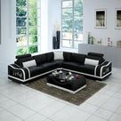 Asland Modern Leather Sectional