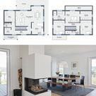 Modernes Haus mit Einliegerwohnung -   HausbauDirekt.de
