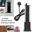 PULL POP UP ELECTRICAL PLUG SOCKET 2 USB KITCHEN WORKTOP BLACK SILVER STEEL TOP     eBay