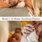 Remy's At-Home Newborn Photos | Family Portrait | Hunter Premo