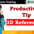 Excel 3d referencing or 3D formulas are well known productivity tip to advanced excel user. This can help you to remove manual process of selecting same cell from different sheets and consolidating data in Excel. This can help you to summarize the data on