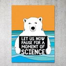 Science Bear PRINTABLE Protest Poster  Climatemarch Climate | Etsy