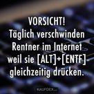 VORSICHT! Täglich verschwinden Rentner im Internet weil sie... - Kaufdex