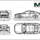 Audi RS5 2011   2D drawing blueprints   30133   Model COPY   English
