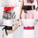 2019 New Lace Up PU leather Waistband Women Wide Corsets Cummerbunds Belts for Women High Waist Slim Girdle Belt Bow Bands