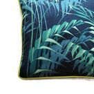 Sanderson Palm House, botanical teal green and blue cotton cushion cover, throw pillow cover, home decor.