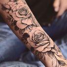 tattoo ideas female arm flowers roses