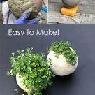 Make a DIY Cement Balloon Planter   Easy Round Cement Planter Tutorial